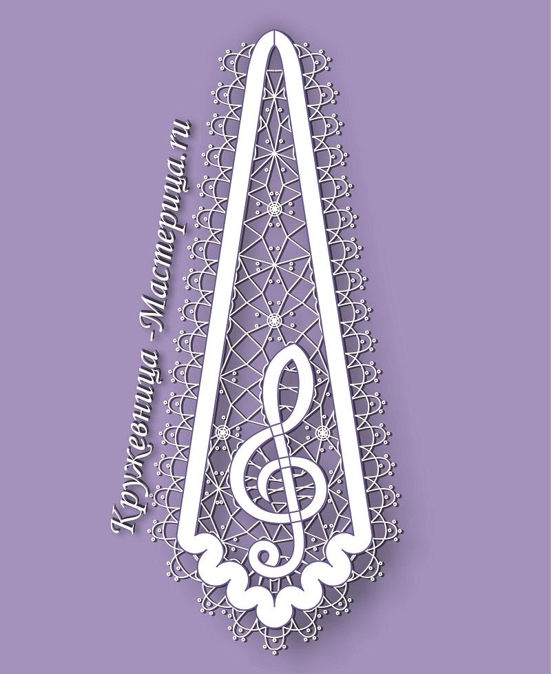 Сколок — Галстук «Скрипичный ключ»