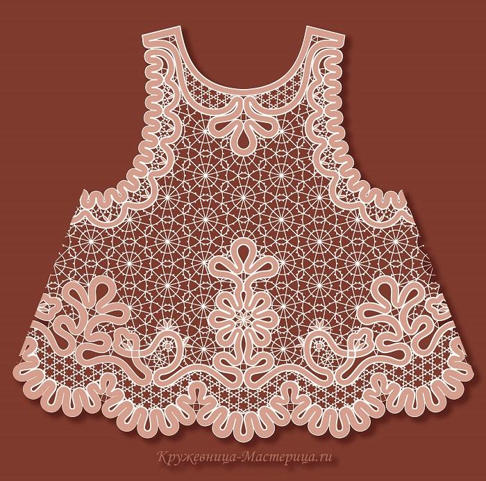 Сколок — Платье-фартук для девочки, рост 92 см.
