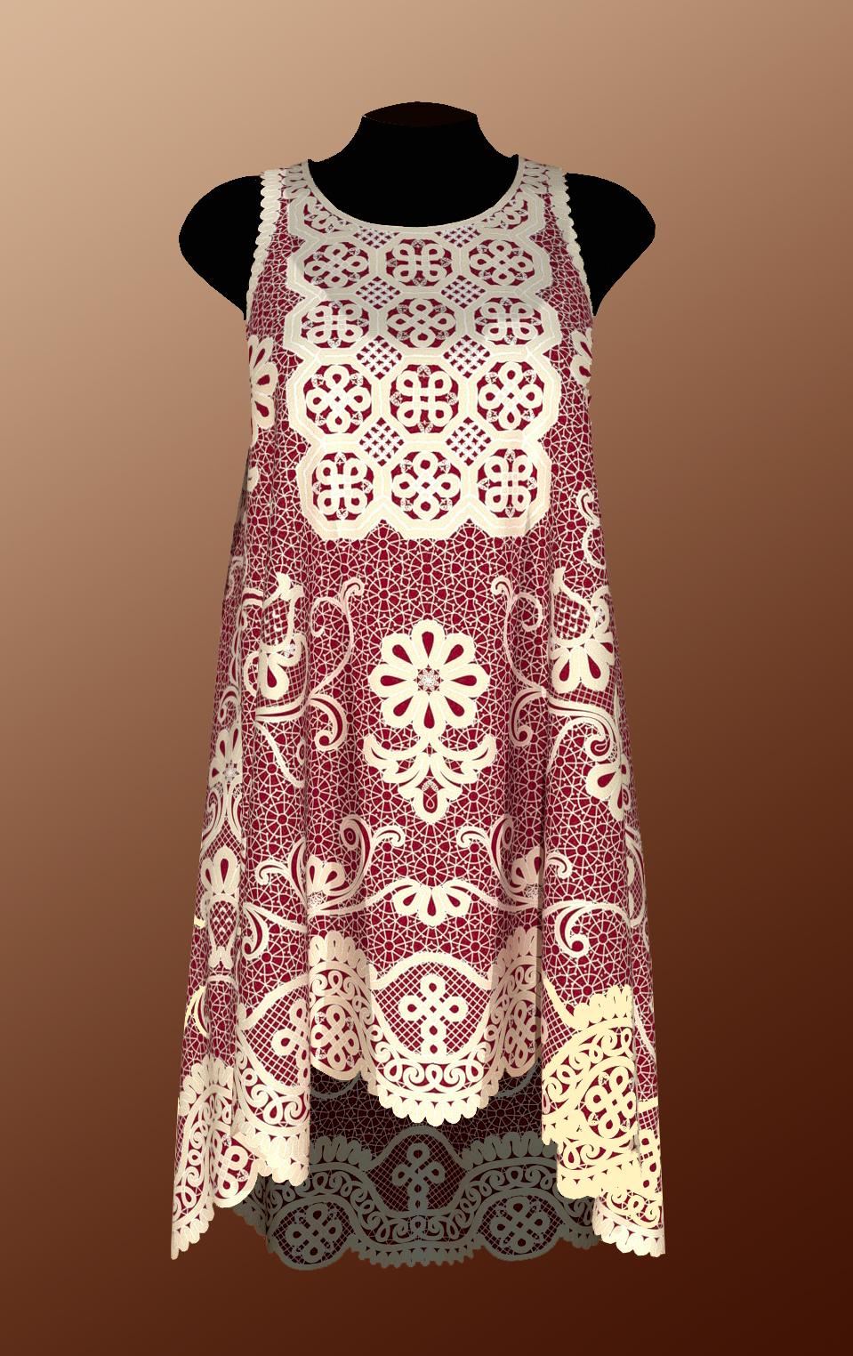 Сколок — Платье-туника. группа № 2 размеры: 52, 54, 56