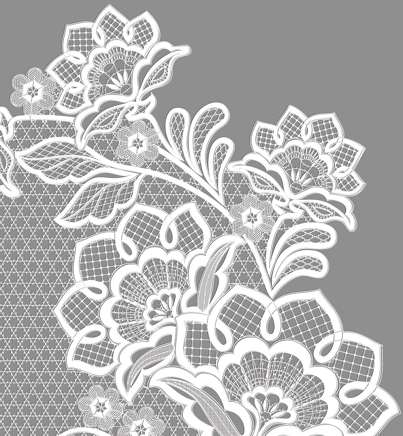 Сколок — Скатерть-панно «Сказочные цветы»